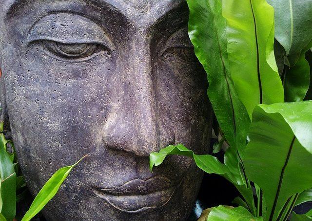 Лицо статуи Будды