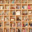 Шкаф с ненужными домашними книгами, которые можно продать