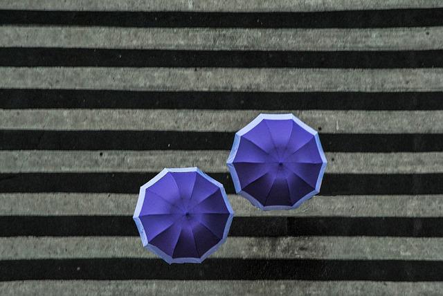 Зонтики под дождем