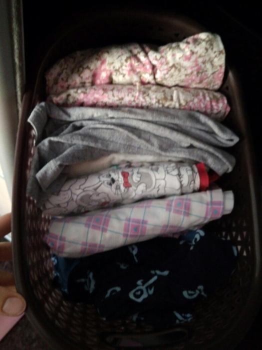 Корзина для хранения домашней одежды
