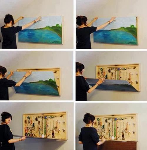 Шкаф-картина для хранения аксессуаров