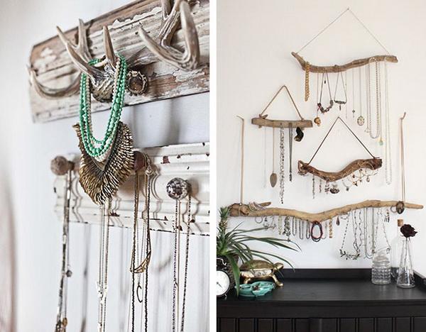 Коряги на стене - для хранения украшений