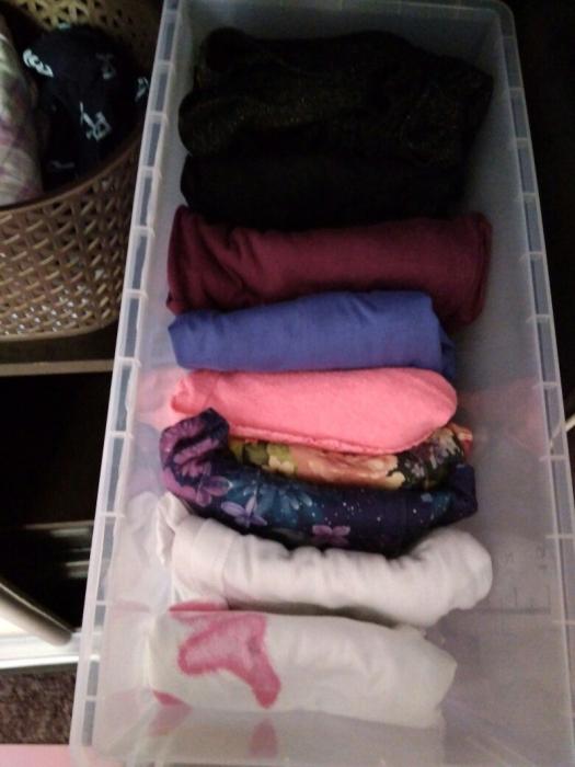 Контейнер для хранения домашней одежды