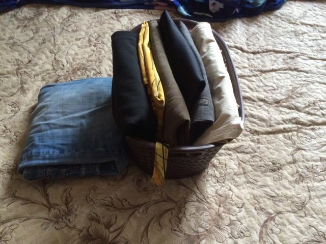 Корзина для одежды. Вертикальное хранение